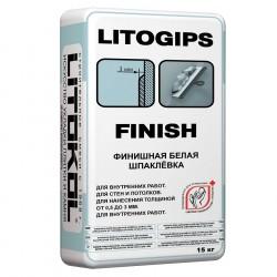 Шпаклевка финишная белая LITOKOL LITOGIPS FINISH, 15 кг