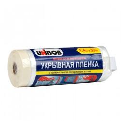 Пленка укрывная с малярной лентой Unibob 1.4 М Х 33М