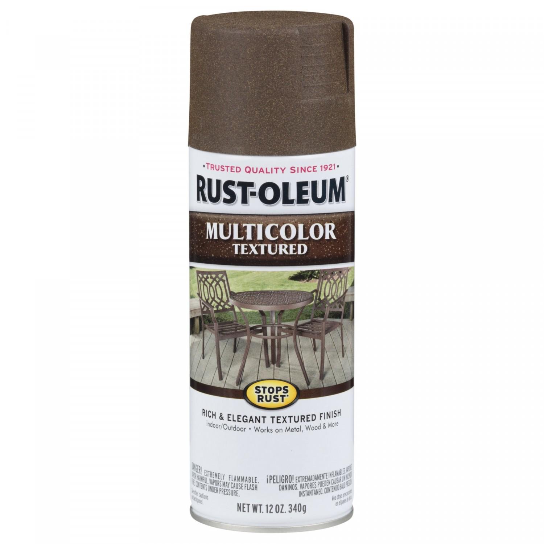 Эмаль STOPS RUST многоцветная текстурная (цвет: коричневый осенний), спрей 0,34кг