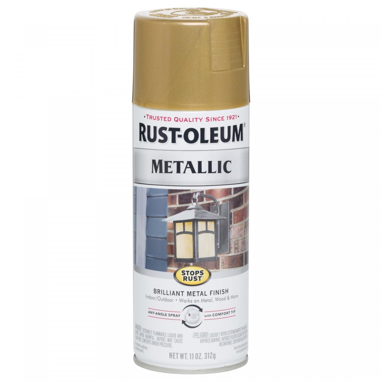 Эмаль STOPS RUST антикоррозийная с эффектом металлика (цвет: золотая лихорадка), спрей 0,312кг