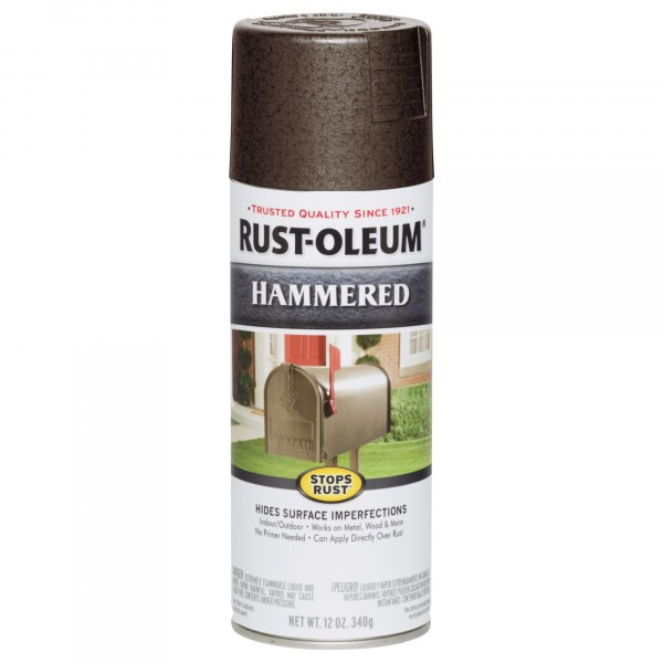 эмаль stops rust антикоррозийная с молотковым эффектом (цвет: коричневый), спрей 0,34кг