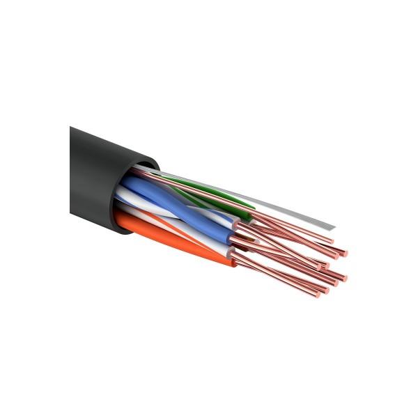 кабель utp 4pr 24awg cca cat5e, наружный, 25м proconnect