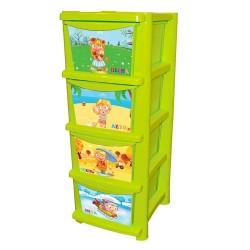 Комод для детской комнаты Обучайка Времена года 335 мм салатовый