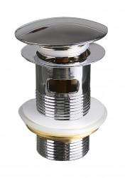 Выпуск для умывальника 1.1/4, системы клик-клак с отверстием для перелива (круглый), MP-У