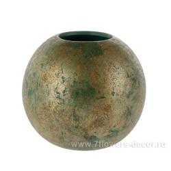 Ваза керамическая 20см бронзовая 3686-20