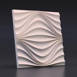 Панель гипсовая 3D Круговая Волна