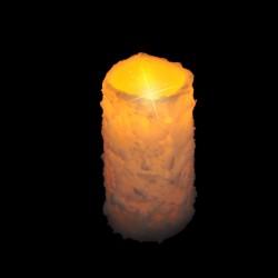 Светильник СВЕЧА декоративная в инее теплый свет 15*8см без батарейки 83166