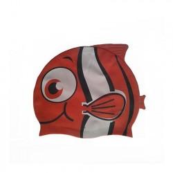 Шапочка для плавания силиконовая Рыбка YS20 (красная)