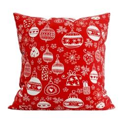 Подушка декоративная  40x40 с печатью (Скотчгард Печать (С195) Новогодние игрушки)
