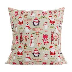 Подушка декоративная 40х40 с печатью (Скотчгард Печать (С195) Новогоднее настроение)