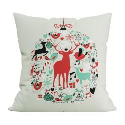 Подушка декоративная 40х40 с печатью (Скотчгард Печать (С195) Новогодний шар)