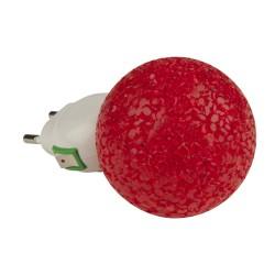 Светильник-ночник Uniel Dtl-309 Шар RED 1LED 0,1W