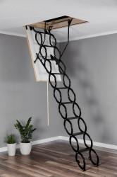 Лестница чердачная металлическая Oman Nozycowe Termo раздвижная 70x80x285 см