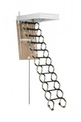 Лестница чердачная металлическая Oman Nozycowe раздвижная 70x80x300 см