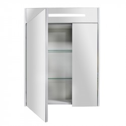 Шкаф зеркальный Акватон СИЛЬВА 60см Дуб Полярный 1A216202SIW70