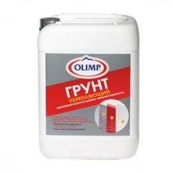 Грунтовка упрочняющая, пленкообразующая ОЛИМП 5,0л