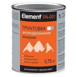 Грунтовка элемент PА-001 алкидная 0,75л серая