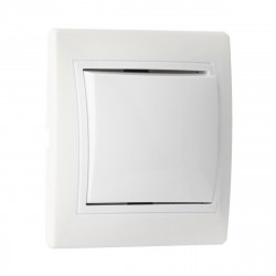 Выключатель 1-клавишный 10А белый, керамика