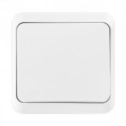 Выключатель 1-клавишный 10А белый
