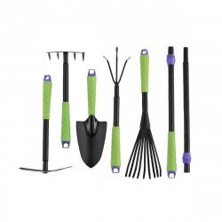 Набор инструментов (совок, граб.веерн., рыхлит., граб.5-зуб., мотыж., компл.удл.ручек) PALISAD 63020