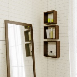 Полка мебельная квадратная 300х300х124 (Венге темный)
