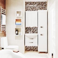 Полка мебельная квадратная 240х240х124 (Белый)
