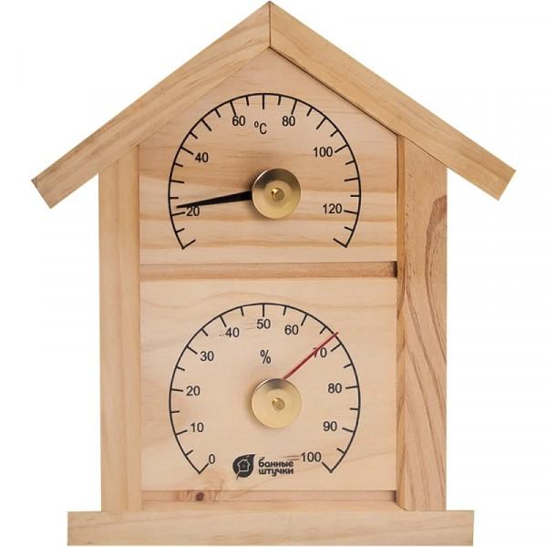 термогигрометр для бани и сауны банная станция домик 23,6*22*1,9см 18023 термометр с гигрометром банная станция овальный в деревянном корпусе
