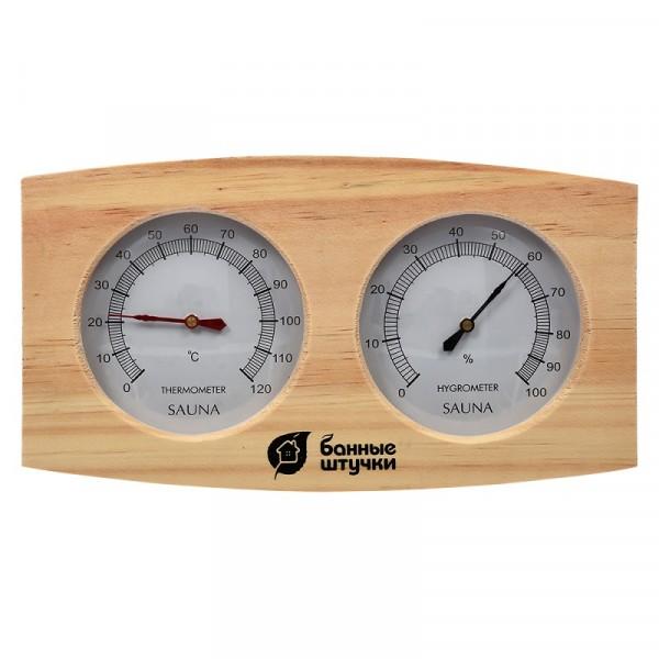 термогигрометр для бани и сауны банная станция 24,5*13,5*3см 18024 ароматизатор для бани и сауны антистресс 100 мл