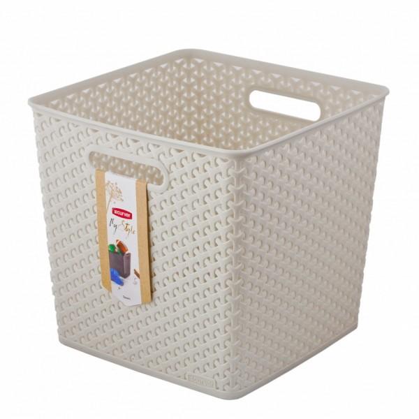 коробка для хранения 13л my style square кремовая 03613-885