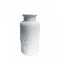 Ваза керамическая Агнес белая 20,5х6см 354