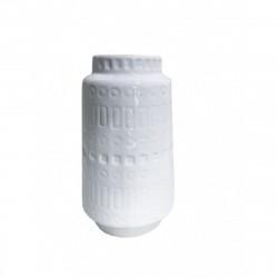 Ваза керамическая Агнес белая 21х5,5см 351