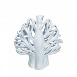 Предмет декоративный керамический Евгеника белый 22х10х24см 1323-2