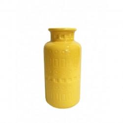 Ваза керамическая Агнес желтая 20,5х6см 354