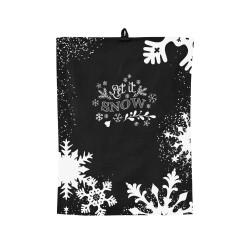Комплект полотенце+прихватка (Новый Год) черный