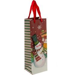 Пакет подарочный для бутылки Christmas 102896