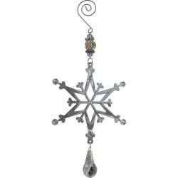 Подвеска металлическая подвеска Новогодняя снежинка 10,7х10см 100987