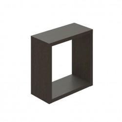 Полка мебельная квадратная 270х270х124 (Венге темный)