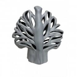 Предмет декоративный керамический Евгеника 22х10х24см серый 1323-2