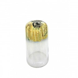 Ваза стеклянная Аккорд 27см золотая 9633