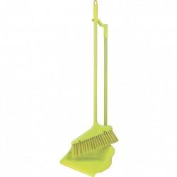 Набор для уборки ЛЕНИВКА (совок+щетка) зеленый Elfe 93316