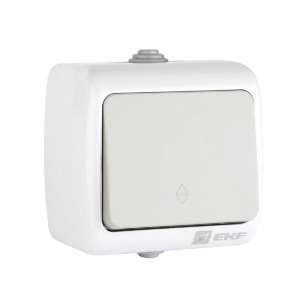 выключатель 1-клавишный проходной мурманск 10а ip54 серый efv10-025-30-54