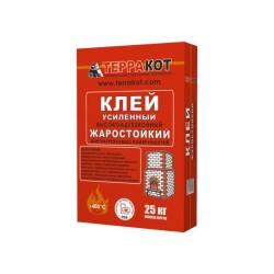 Клей для плитки термостойкий усиленный ТЕРРАКОТ, 25 кг