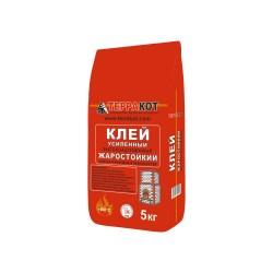 Клей для плитки термостойкий усиленный ТЕРРАКОТ, 5 кг