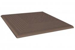 Ступень угловая  коричневый Simple brown 3-d R 30х30 (0,90) 37027