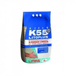 Клей для плитки LITOKOL LITOPLUS K55, цвет белый, 5 кг