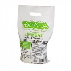 Цемент Diana М500, цвет белый, 3 кг