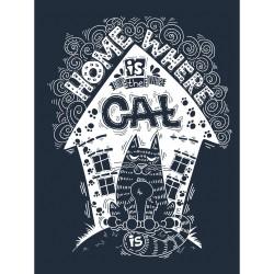 Постер на МДФ Home where is the cat 30х40см 101871832 25942-01