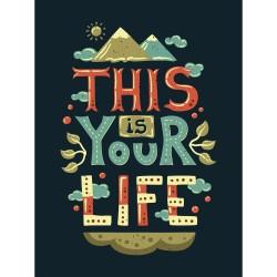 Постер на МДФ This is your life 30х40см 87495554 25942-09
