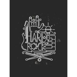 Постер на МДФ Hard Rock 30х40см 121615654 25942-02