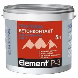 Грунтовка элемент P-3 бетонконтакт, адгезионная 5л